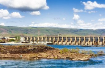 The Dalles Dam on the Columbia River-cm